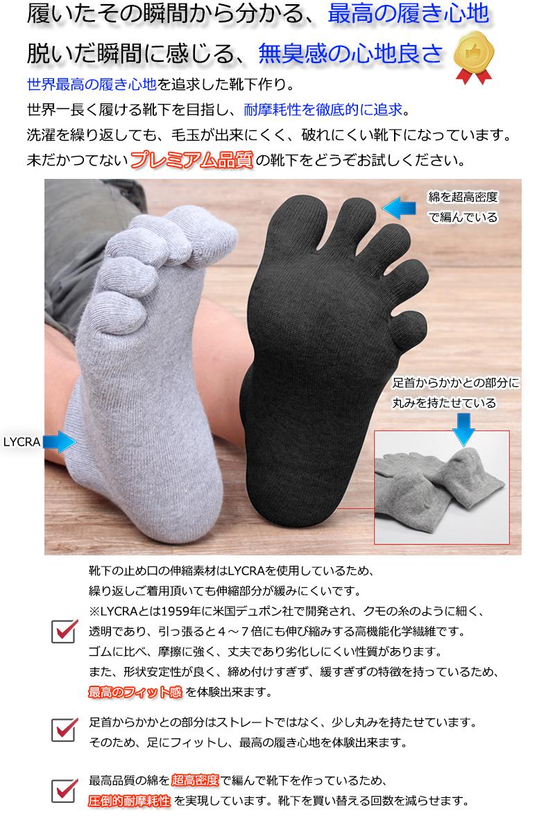 消臭防臭ソックス靴下1