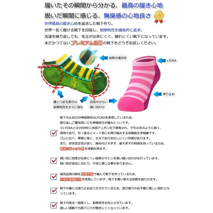 キッズソックス(スニーカー丈) 消臭靴下 foota 足の臭い対策−2
