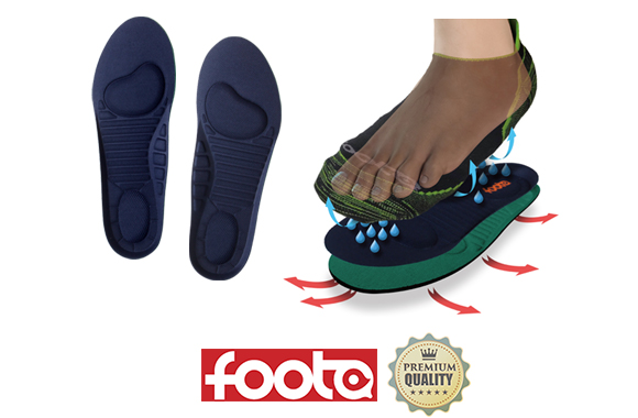 消臭靴下footaの3Dインソール/3D中敷き